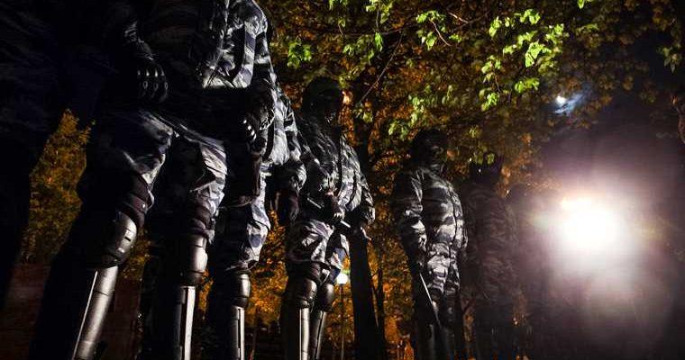 протесты Минск баррикады