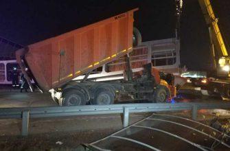 авария снес КАМАЗ мост Екатеринбург