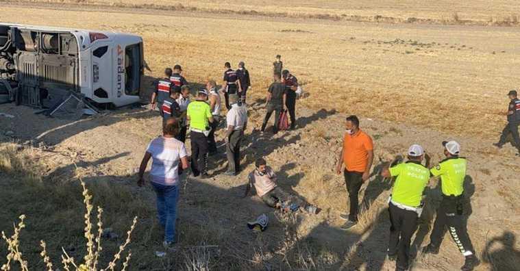В Турции разбился автобус с российскими туристами. ФОТО
