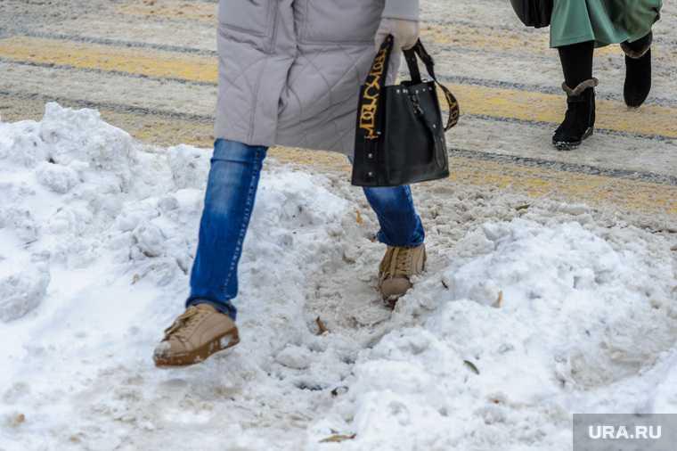 снегопады в России