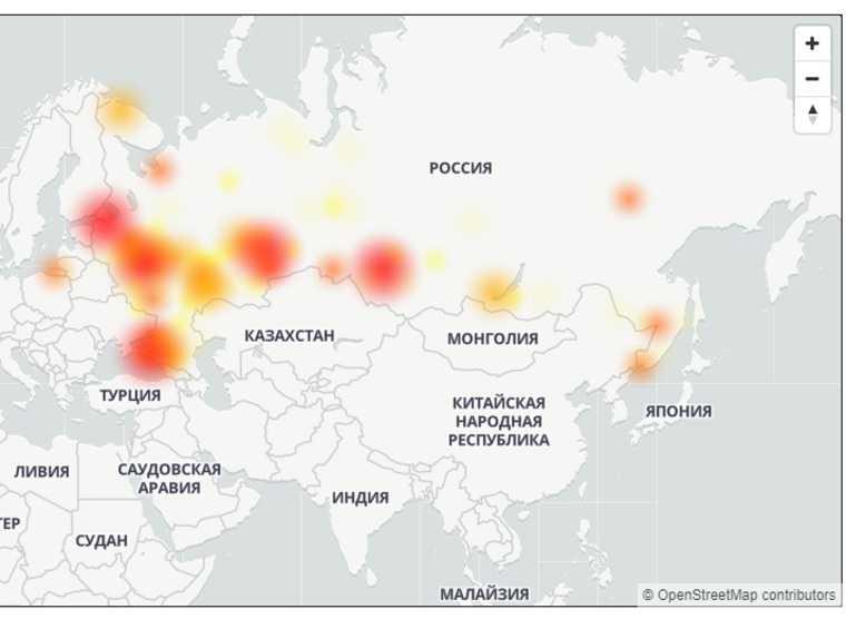 У «Ростелекома» произошел сбой по всей России. Карта