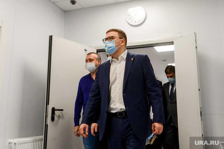 Алексей Текслер на строительстве второй очереди инфекционной больницы. Челябинск