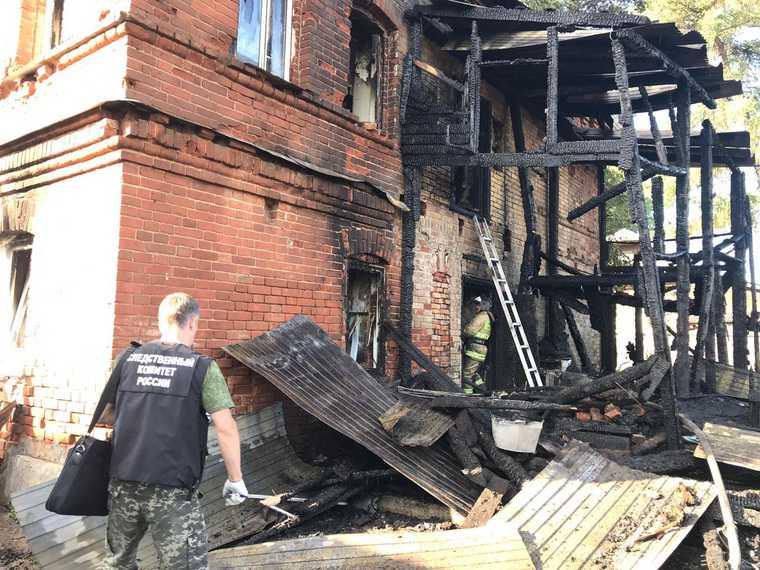 Пермский СК возбудил дело по факту гибели детей во время пожара. Фото